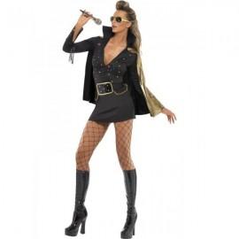 Luxusní dámský kostým - Elvis Presley v černém