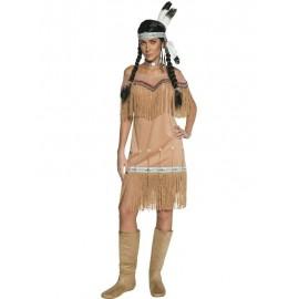 Kostým Indiánka deluxe