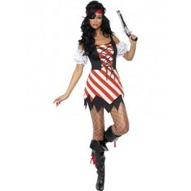 Kostým Sexy pirátka - pruhovaná