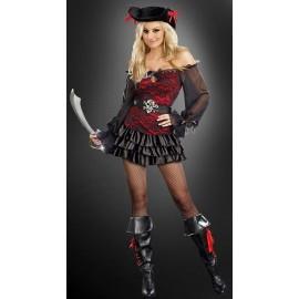 Kostým pirátka krajková