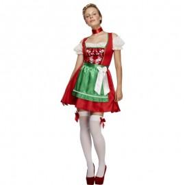 Kostým bavorská červéná - dívka