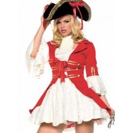 Pirátský kostým červený