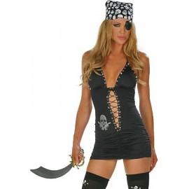 Kostým černé pirátky
