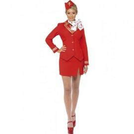 Letuška - červený kostým
